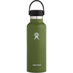Hydro Flask Standard Mouth Drinkfles met standaard Flex Cap 532ml, olive